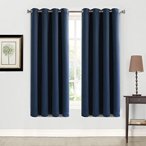 2 panels blackout curtains thermal