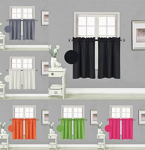 2pc thermal insulated blackout tiers curtain