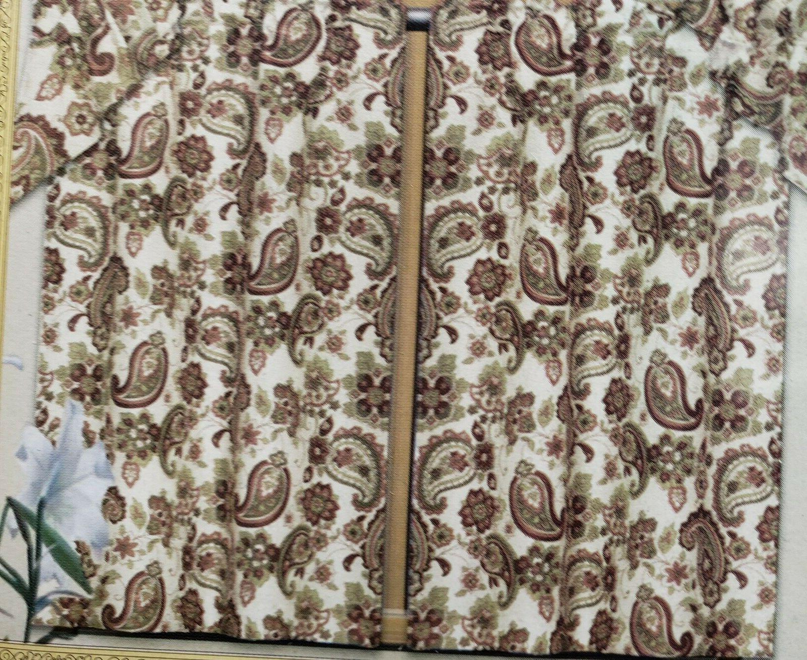 3 Kitchen Curtains SET: 2 Swag FLOWERS PAISLEY,BH