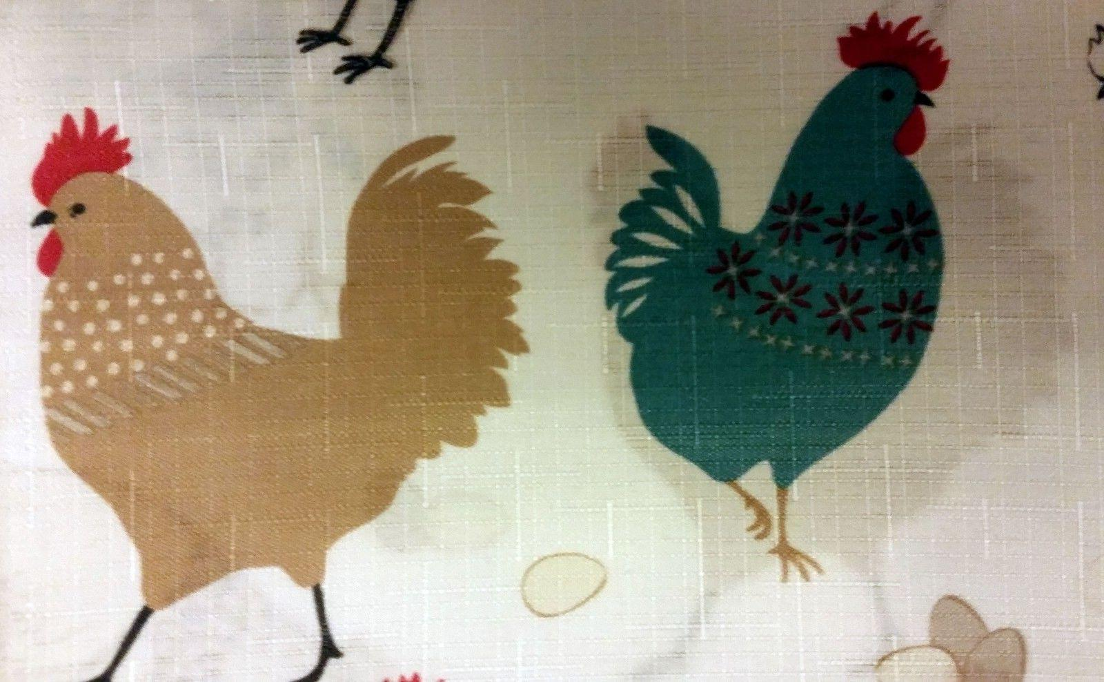 Set: 2 Valance ROOSTERS
