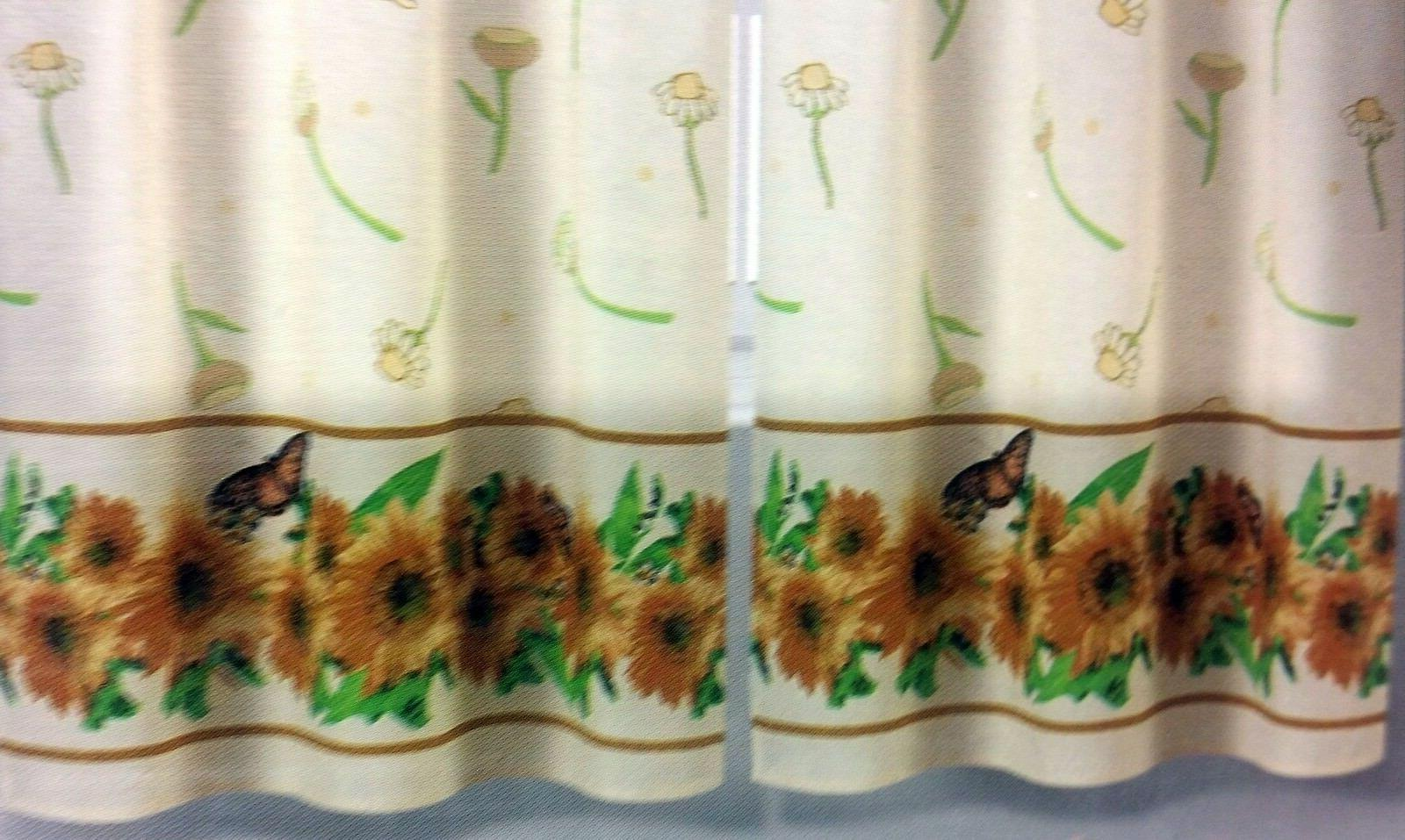 3 Curtains Set: Swag SUNFLOWERS EHF