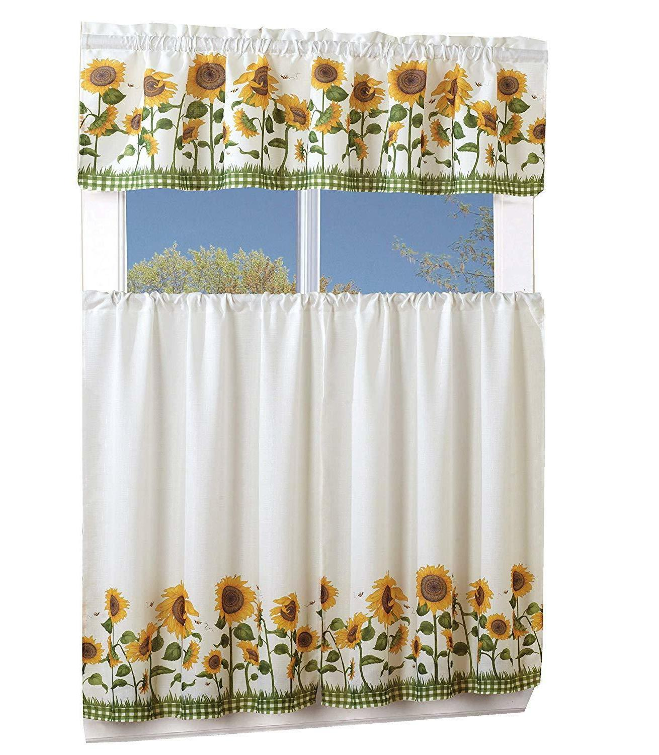 3 Piece With Window Curtain