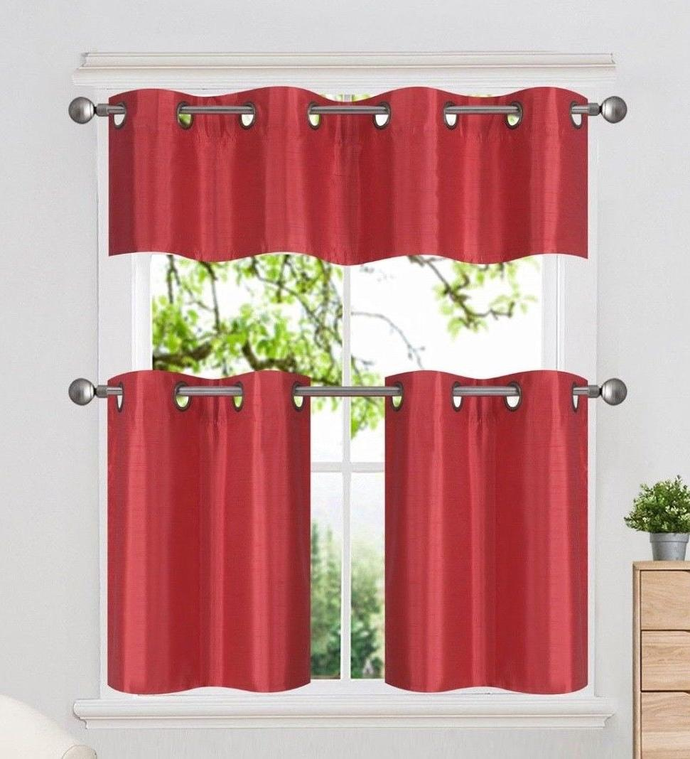3PC Set Insulated Grommet Valance
