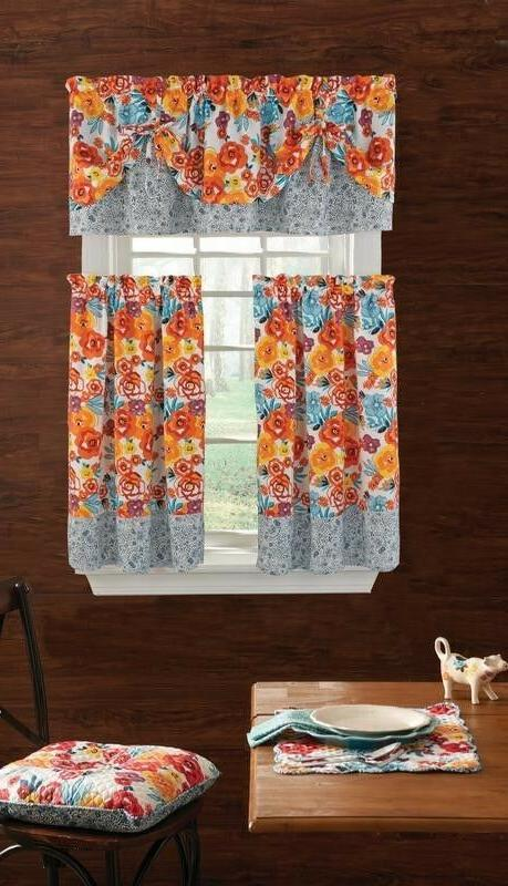 The Pioneer Woman 3piece Kitchen Curtain Set