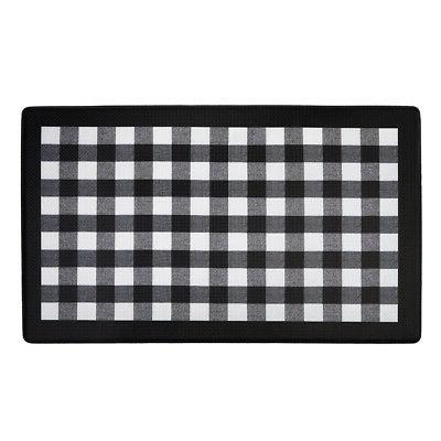 Black Checkered Kitchen Window Panel Valance