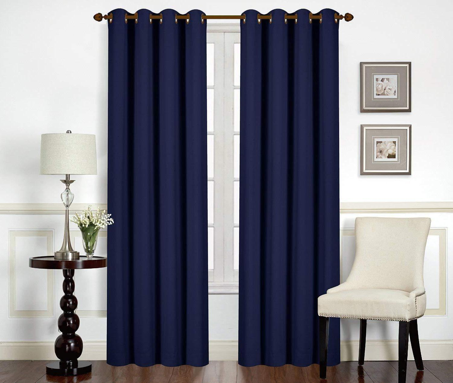 Curtains Grommet Window Panel 2 Set