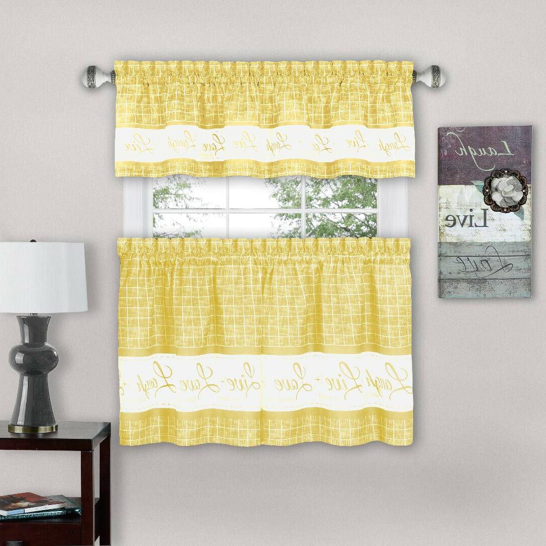 Gingham Pc Kitchen Curtain - Assorted Sizes