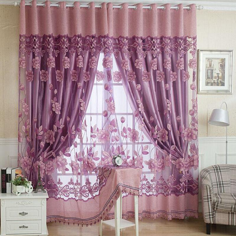 Luxurious Window Curtains Burnout for Home Living