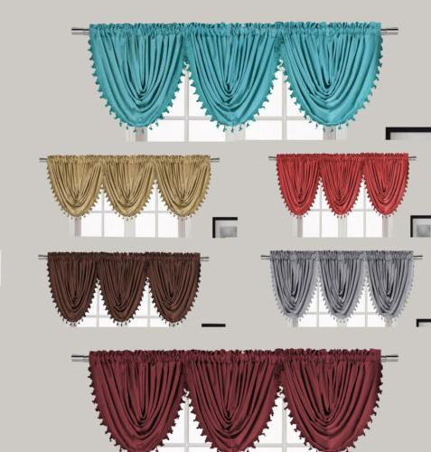 New Luxury Waterfall Decorative Trim Window Valance   7 COLO