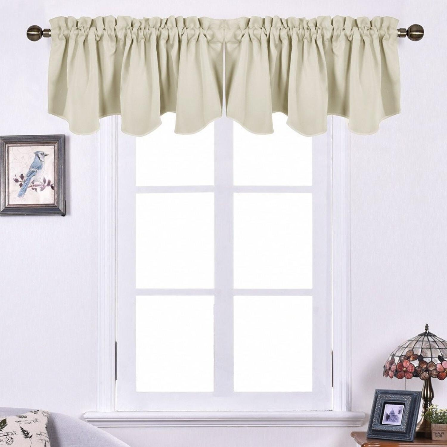 "Scalloped Window Curtain Panels 52"" By 18"""