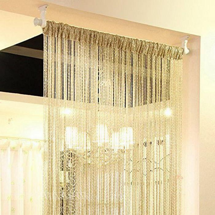 Silver Tube Curtains Living Room Divider