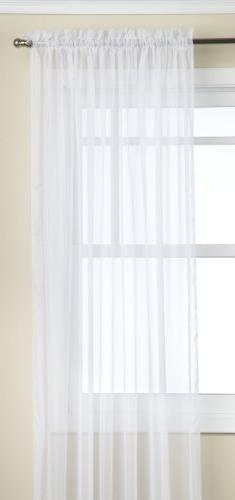 "Stylemaster Sheer Voile  Elegance 60"" X 95"", Panel White"