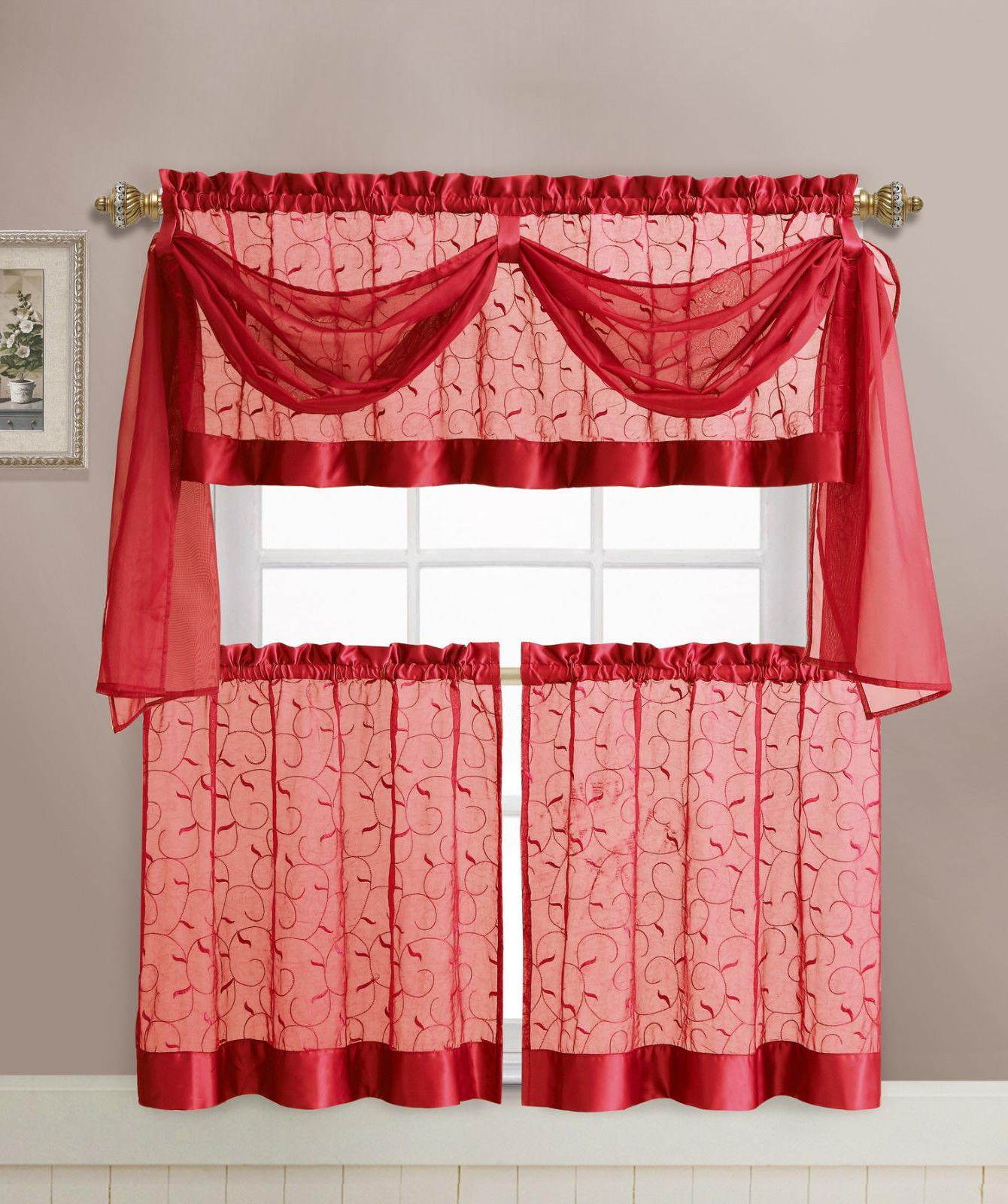 VCNY Embroidered Curtain Set - Assorted