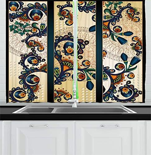 abstract kitchen curtains
