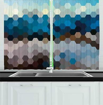Abstract Modern Kitchen Curtains 2 Panel Set Window Drapes 5