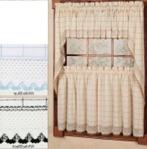 adirondack kitchen curtains 3 colors new