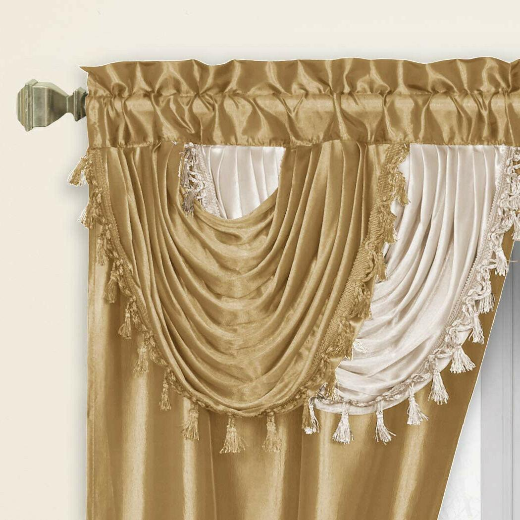 Regal Home Collections Amore 54-Inch Set Valance