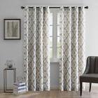 """Ink + Ivy Ankara Graphic Curtain Panel Brown Beige Taupe 50"""""""