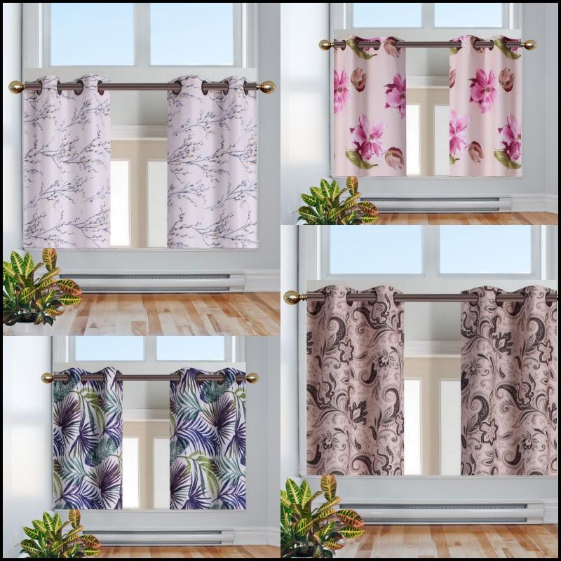 S.L. Home Fashions Cameron Linen Blackout Window Panel Pairs