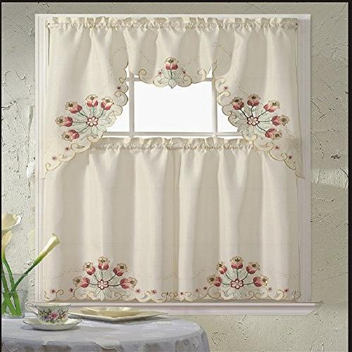 b h jackie floral embroidered