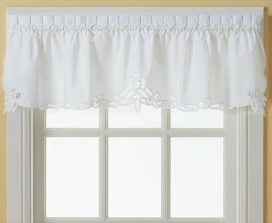 Battenburg Lace embroidered Curtain - White {Brand NEW}