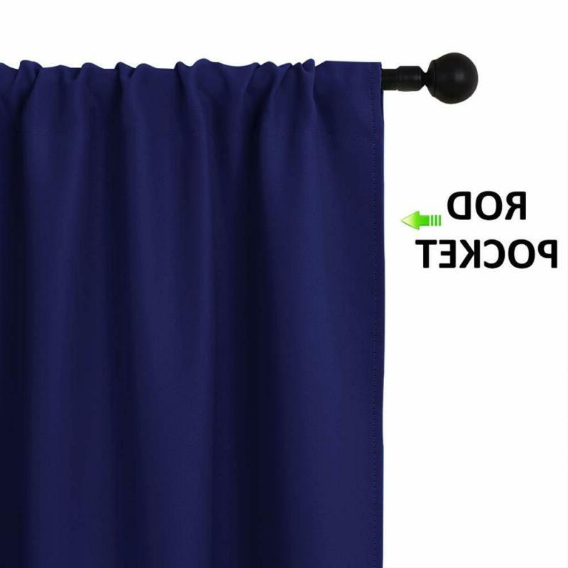 Nicetown Curtains Draperies - All Season Thermal Insulated Soli