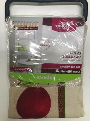 better homes and gardens apples valance curtain