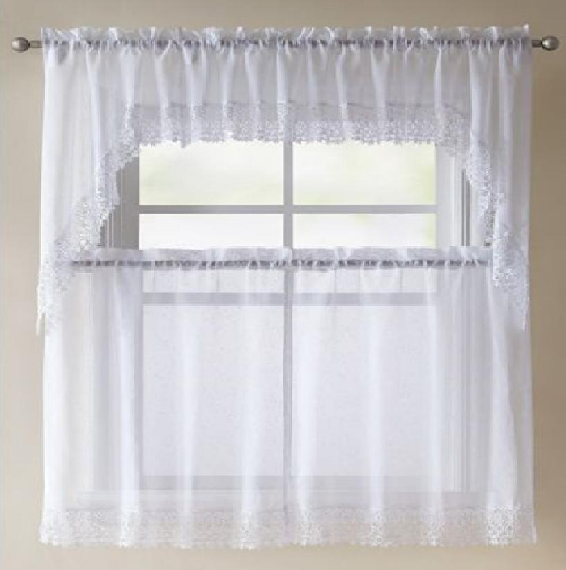 Better Homes Lace Vines Curtain White