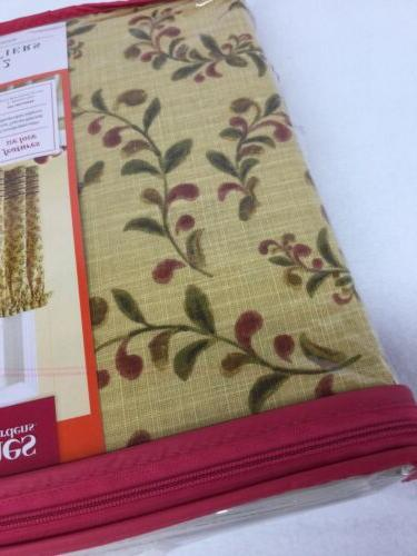 Better Tuscan Kitchen Curtains Yellow