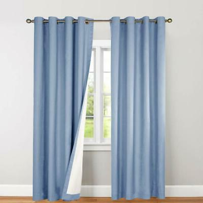 Blackout Curtain Thermal Insulated Drape for Room/Bedroom,1