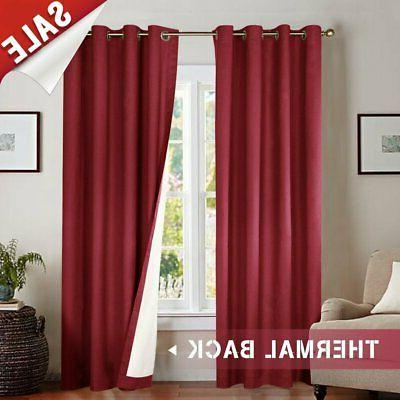 Blackout Insulated Drape Room/Bedroom,1 Panel