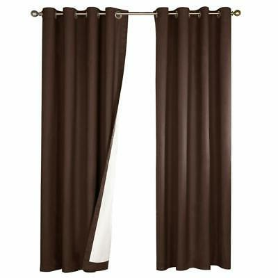 Blackout Curtain Thermal Insulated Drape Room/Bedroom,1 Panel