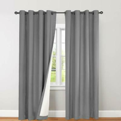 blackout curtain grommet thermal insulated drape