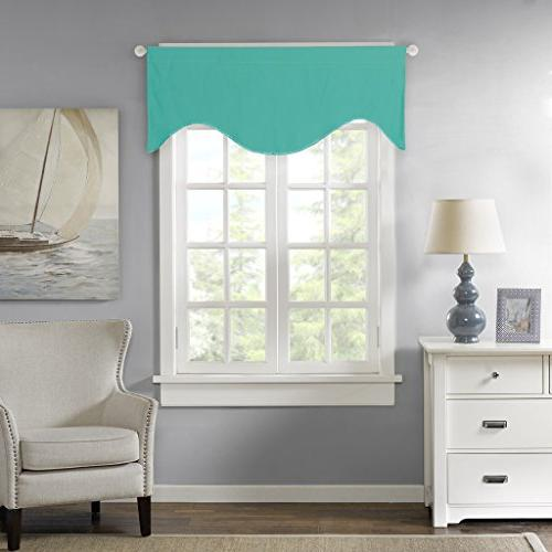 blackout curtain window scallop valances
