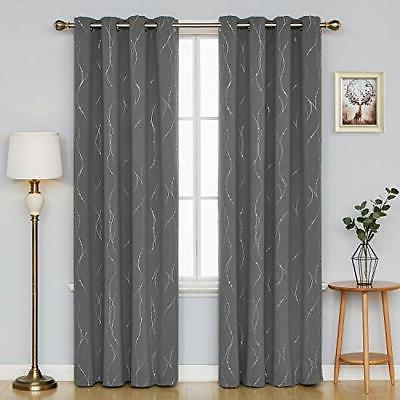 Blackout with Dots Thermal Insulated Drapes for Bedro