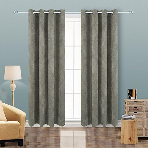 """Alice Brown Blackout Panels for Curtains Room X 84"""""""
