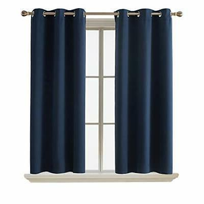 Blackout Curtains Room Darkening Thermal Insulated Curtain Grommet for