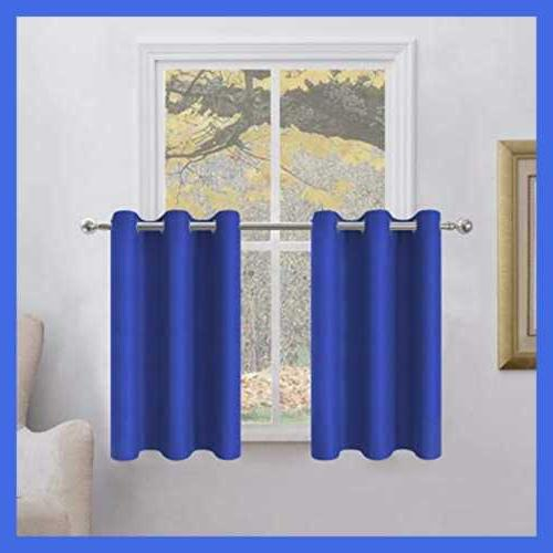 Blackout Curtains Privacy Enhancing Thermal Kitchen Grom