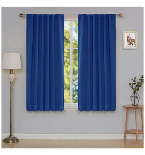 deconovo blackout curtains Insulated 52x45 In Blue