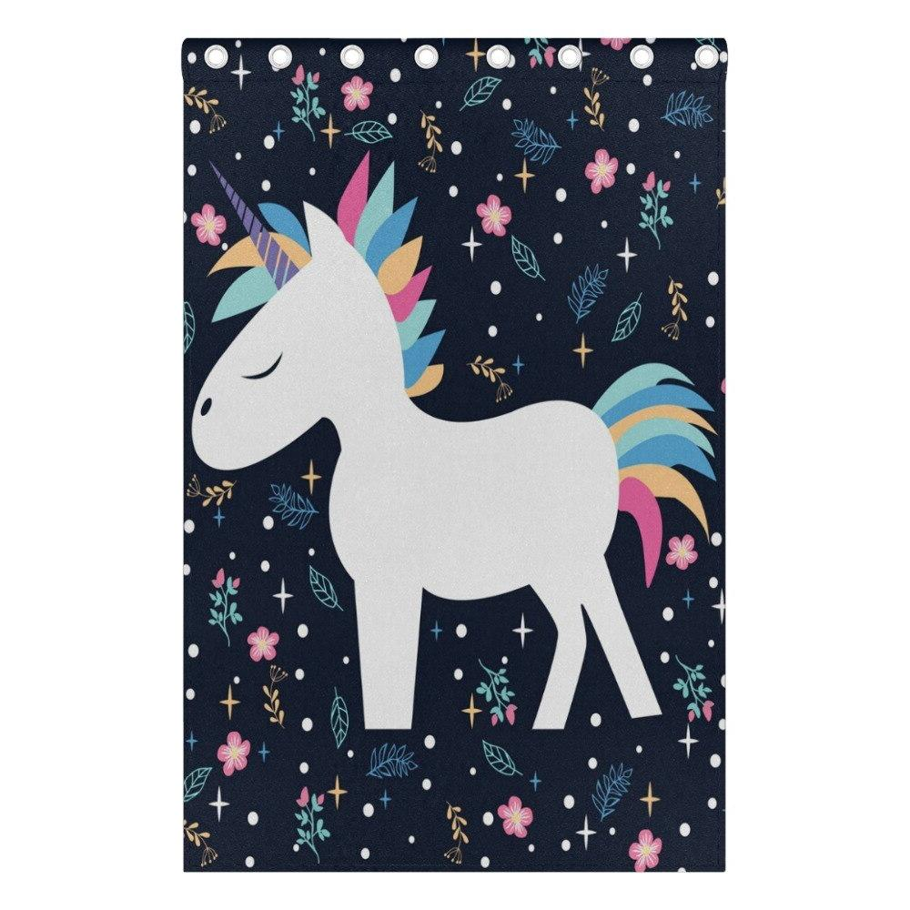 Blackout <font><b>Curtain</b></font> Room Unicorn Printed Bedroom <font><b>Kitchen</b></font> Balcony Fresh for Decoration