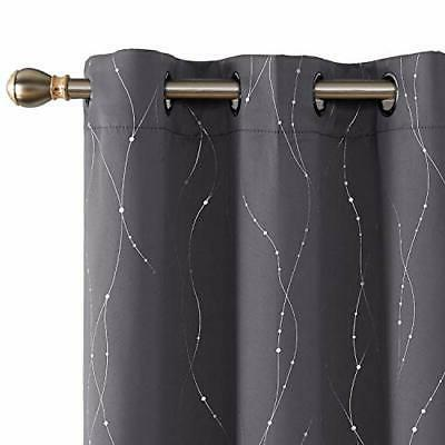 Blackout Curtains Pair Thermal Light Curtains with D