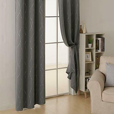 Blackout Grommet Curtains Pair Thermal Light Curtains with