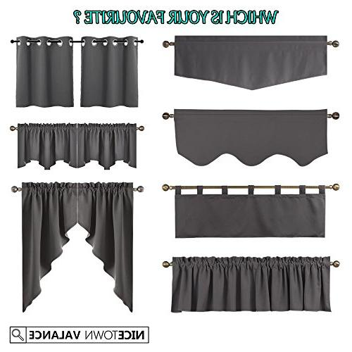 NICETOWN Blackout Home Kitchen Tier Curtains- Scalloped