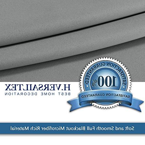 H.VERSAILTEX Grey Curtains, Extra Wider Thermal Insulated Panel Premium No One - Grey