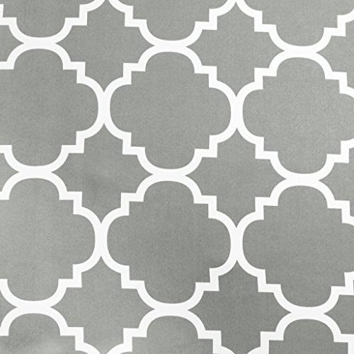 H.VERSAILTEX Beautiful Quatrefoil Dove Pattern Tie Up Panel, Rod Pocket Fashion Shade W42 inch-Dove