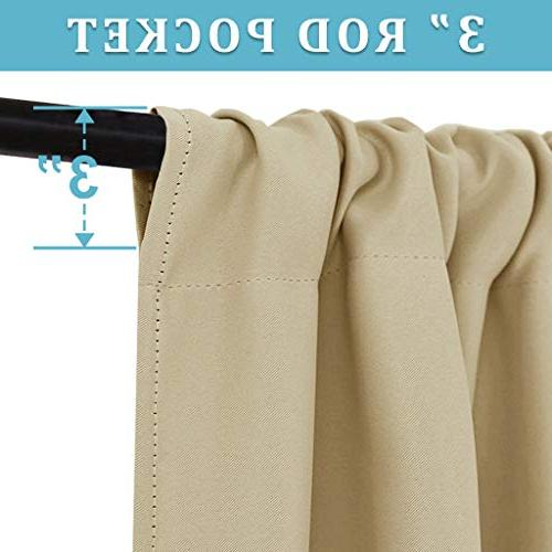 RYB Beige Covering Thermal Curtains Protect Bedroom