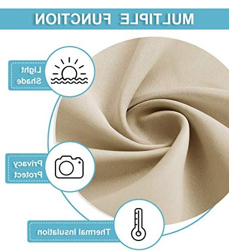 RYB Covering Curtain Decoration Thermal Insulated Curtains Protect Bedroom Kitchen/Super Soft Polyester