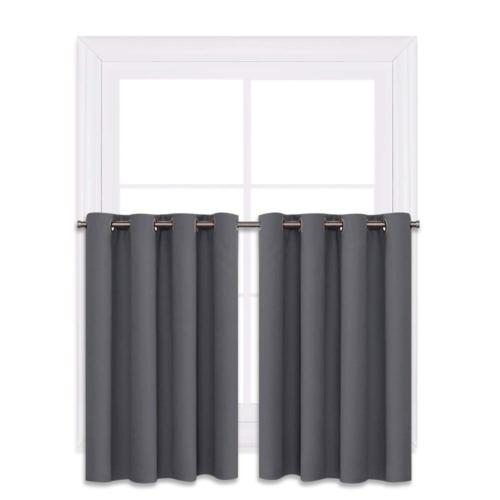blackout window curtains for kitchen thermal insulated