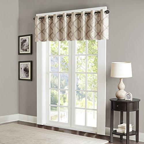 Bombay Gold Curtains Living Valance For Teramo Embroidered Modern Window Curtains, Pack