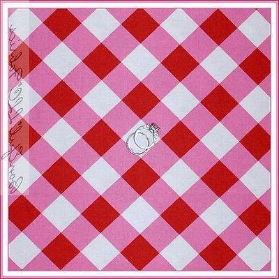 boneful fabric fq cotton quilt red pink